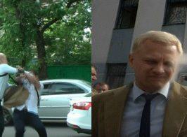 За это Шабунин ударил журналиста Филимоненко. Опубликована полная версия видео со звуком