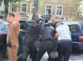 В Одессе во время митинга на активистов «Национального Корпуса» напали титушки