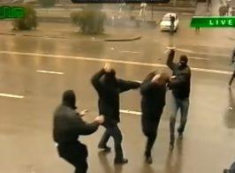 В сеть «слили» видео, на котором Давид Сакварелидзе руководит титушками во время протестов в Грузии