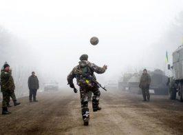 Дорога на Дебальцево. Мирное утро.