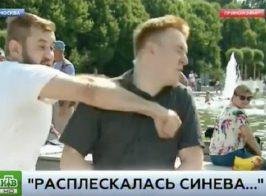 Пьяный десантник и журналист НТВ разыграли постановочное избиение в прямом эфире