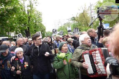 Акцию «Бессмертный полк» в Киеве возглавил «троль» Филимоненко